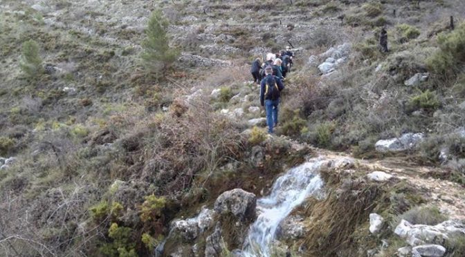 First day out with our Christmas walking group. Malla de Llop with streams and r…