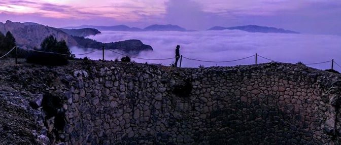 An evening stroll above the clouds to the ice well – after the morning run and p…
