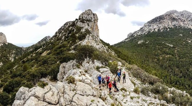 Exploring the ridges and summits of the Costa Blanca mountains, great adventurou…
