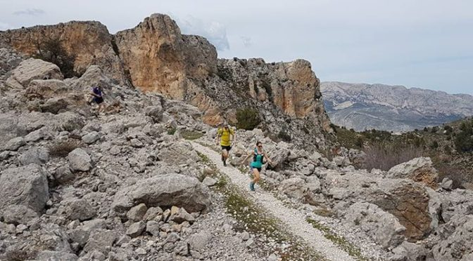Pena Roc traverse is an exciting high level route in the Costa Blanca mountains….