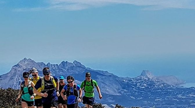 Ridge running above the Mediterranean. The Sierra Bernia in the background. This…
