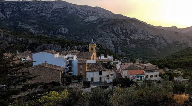 Confrides is the highest village in the Guadalest Valley, its colourful houses a…