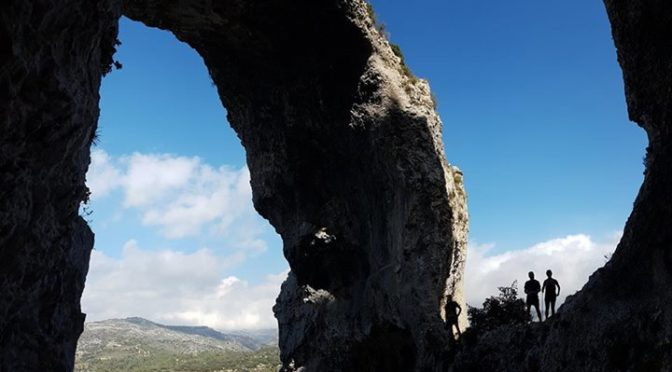 The amazing arches on Sierra Aixorta. Excellent walking and trail running.