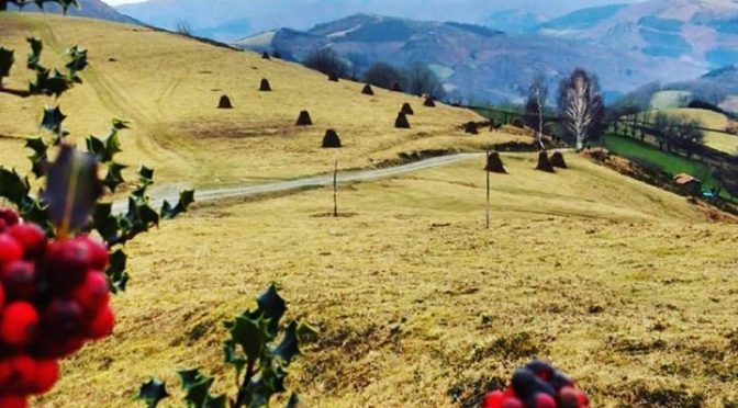 And even in winter these beautiful mediaeval landscapes of the Basque Pyrenees a…
