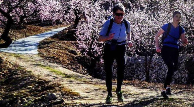 descending back to Abdet through the almond groves.  #trailrunning  #ultrarunnin…