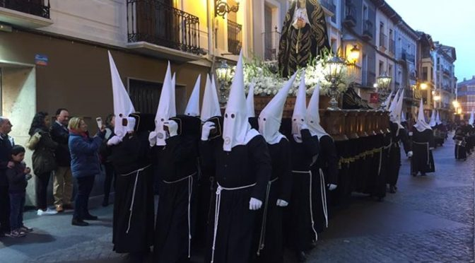 Out watching the Easter procession in Jaca last night. Easter is just fantastic …