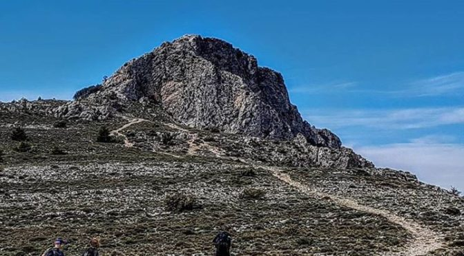Approaching the summit of Montcabrer, the 3rd highest peak in Valencia province….
