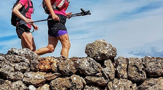 Traversing the Sierra Mariola, a great area for trail running and walking in the…