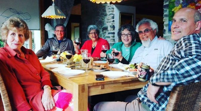 Californian guests ….great dinner after a day's walking ….and my mother to t…