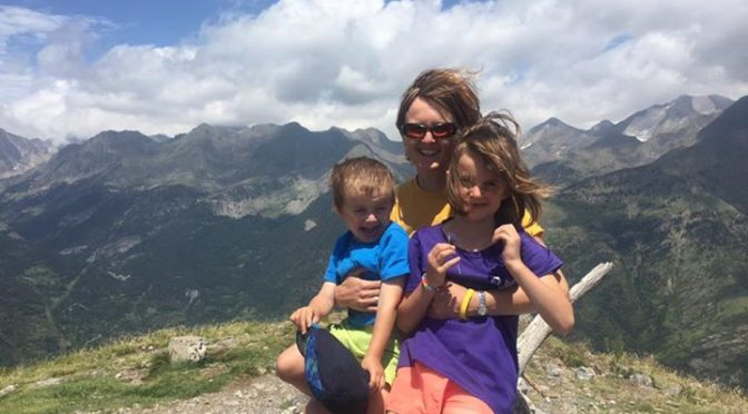 The first mountain for the whole of the James family. Punta del Pacino (1965m) w…