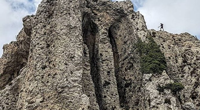 Amazing rock formations high on Serrella. Explore on a walking or trail running …