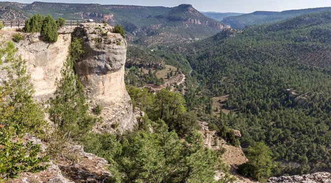 The Alto Tajo Natural Park is famous for its canyons and gorges formed by the river Tagus and its tributaries