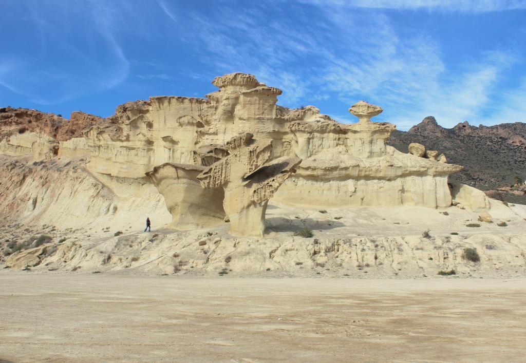 Natural monuments (Monumentos naturales) in Murcia - Las Gredas de Bolnuevo, also called Ciudad Encantada (enchanted city)
