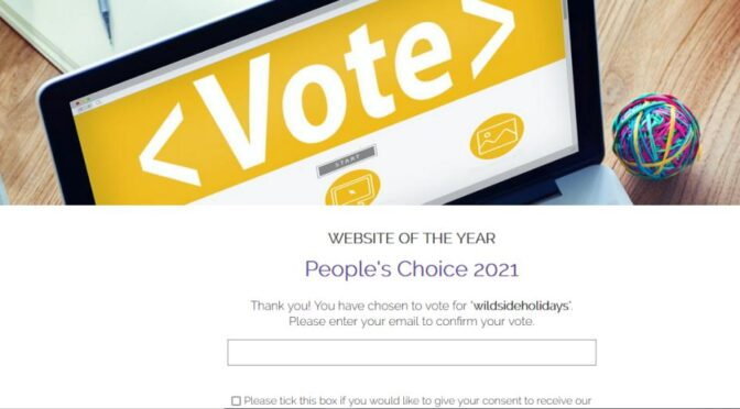 Wildside Holidays is in The 2021 Good Web Guide Awards